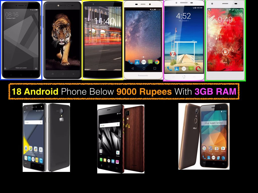 Best Android Phone Under 9000 Rupees With 3GB RAM