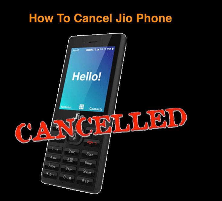 Cancel Jio Pre Booked