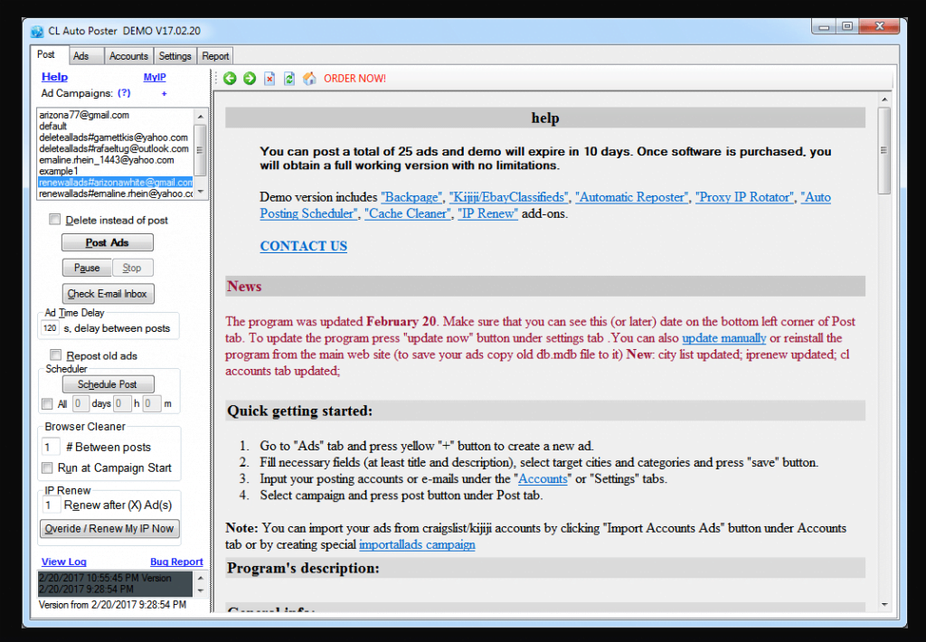 Craigslist Posting Software Free Download For Mac Window