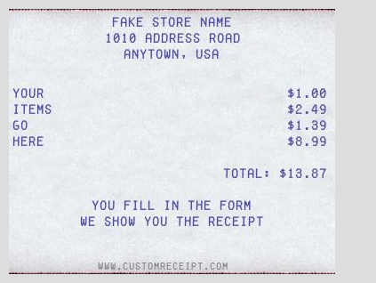 then you can add the list of items or products you want to put into the bill addition of the bottom line is optional after entering all necessary details - Fake Receipt Maker