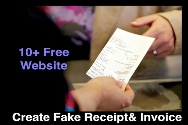 10+} Fake Receipt Maker Software - Fake Receipt Generator