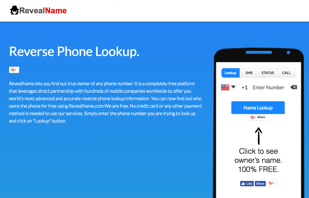 Completely Free Reverse Phone Lookup With Name